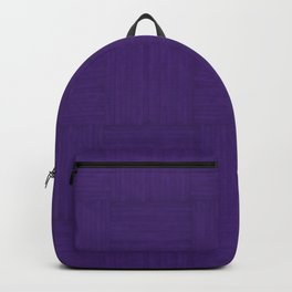 Indigo Purple Faux Bois Wood Pattern Backpack