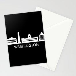 skyline washington Stationery Cards