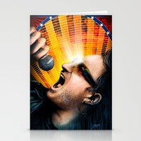 u2 Stationery Cards featuring Bono from U2 by Storm Media