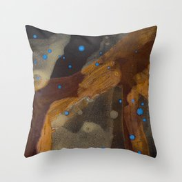 joelarmstrong_rust&gold_01 Throw Pillow