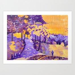 """Allegheny Commons Pedestrian Bridge"" Art Print"