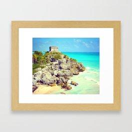 TULUM BEACH OF PARADISE IN MEXICO Framed Art Print