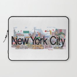 New York City - CityScapes by Stephanie Hessler Laptop Sleeve