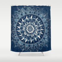 dark side of the moon Shower Curtains featuring The Dark Side of the Moon by Tangerine-Tane