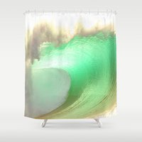 rush Shower Curtains featuring Pipeline Rush by Scott Aichner
