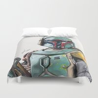 boba fett Duvet Covers featuring Boba Fett by lunaevayg
