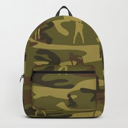 Sexy Woodland Military Camo and Sexy Girls Backpack