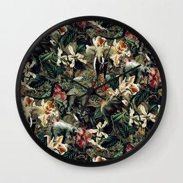 Elephants Camouflage Wall Clock