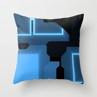 tron Throw Pillows featuring Tron by Fine2art