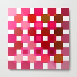 50 / 114 Squares of RED - Living Hell Metal Print