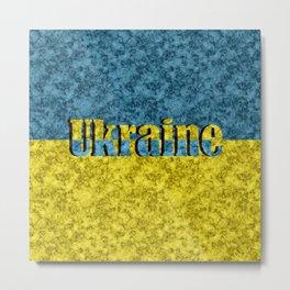 Flag of Ukraine Metal Print