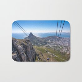 Cable car going up Table Mountain in Cape Town, South Africa Bath Mat