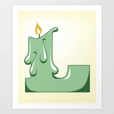 Alphabet L Art Print