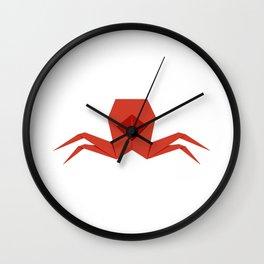 Origami Crab Wall Clock
