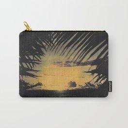 Hawaiian Sunset on Waikiki Beach Vintage Photo Carry-All Pouch