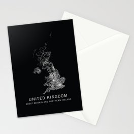 United Kingdom Road Map  Stationery Cards