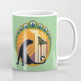 Jaguar Flowers Art Deco Coffee Mug