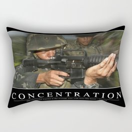 Concentration: Inspirational Quote and Motivational Poster Rectangular Pillow