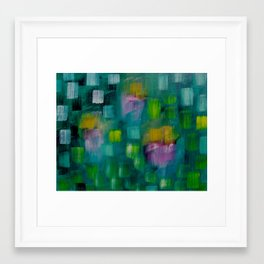 Garden in the Rain Framed Art Print