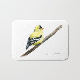 """Little Goldie"" painting by Teresa Thompson Bath Mat"