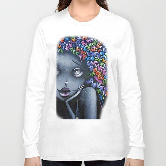 girl letters grafitti Long Sleeve T-shirt