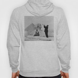 Black and White Photo of Louis Armstrong at the Egyptian Sphinx Hoody