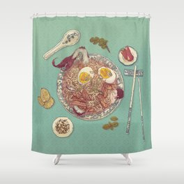 Phở Lady Shower Curtain
