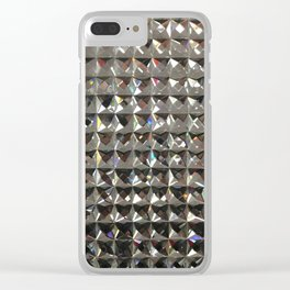 Bling, Fashion Textures Clear iPhone Case