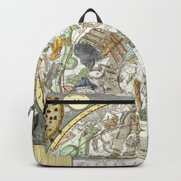 Zodiac Vintage Maps And Drawings Backpack