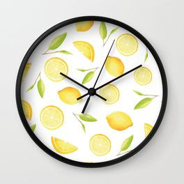 Happy Lemons Wall Clock