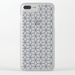 Hive Mind Navy #371 Clear iPhone Case