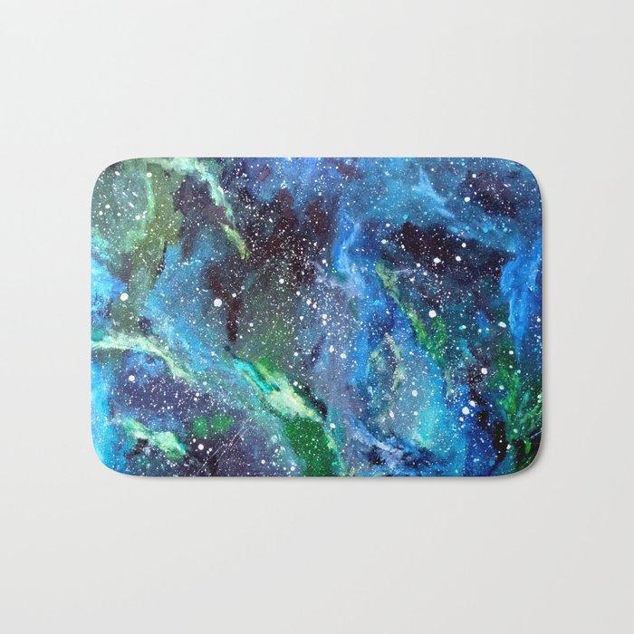 Galaxy (blue/green) Bath Mat