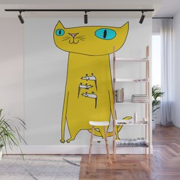 This Cat Eats . . . Mice Wall Mural