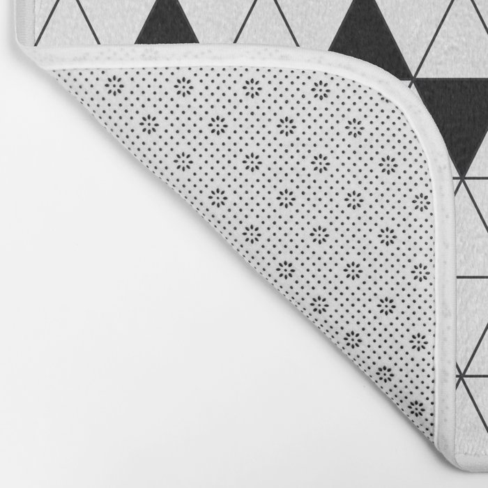 Black and white geometric design. Bath Mat