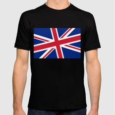 Diagonal state of the Union MEDIUM Mens Fitted Tee Black
