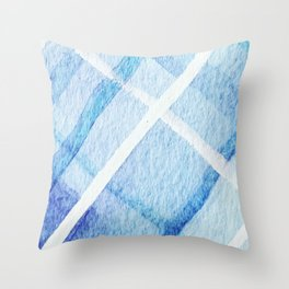 Watercolor Blues Throw Pillow