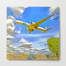 Airliner Pop Art Metal Print