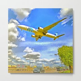 Airliner Pop Art Metal Print