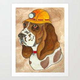 Digger Dog Art Print