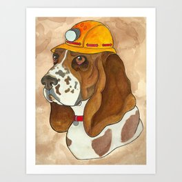 Digger Dog Art Print