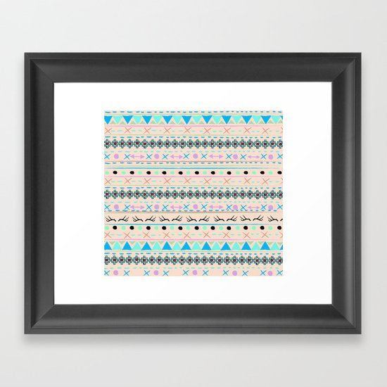 SWEET WINTER PATTERN Framed Art Print