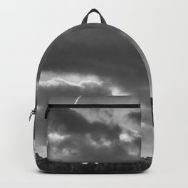 Eiffel tower under the clouds Backpack