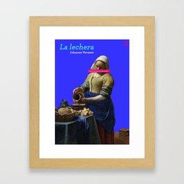 De Melkmaid Framed Art Print