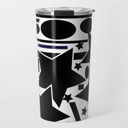 Black and white  composition Travel Mug