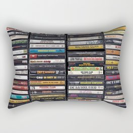Old 80's & 90's Hip Hop Tapes Rectangular Pillow