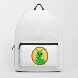 Pipe Smoking T-Shirt For Pipe Smoker Smoking Alien Backpack