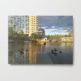 Mirror Mirror on the water Metal Print