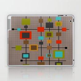 Mid-Century Modern Squares Pattern Laptop & iPad Skin