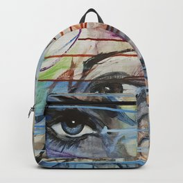 I love your Eyes - Oilpainting from 1991 Backpack