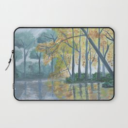 Spring Trees Reflecting Over Lake Laptop Sleeve